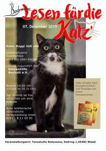Drachengrün und Rabenschwarz, Lesung im Studio Bodywave für Katzenhilfe Bocholt