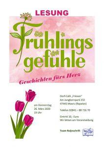 Lesung Frühlingsgefühle